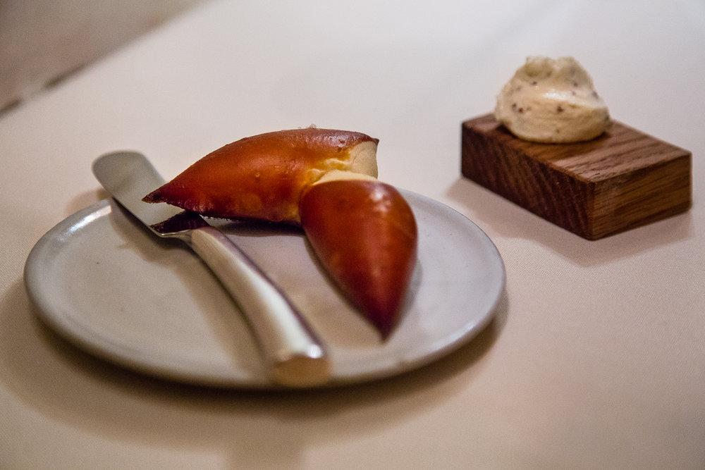 Pretzel Bread with Mustard Seed Ricotta