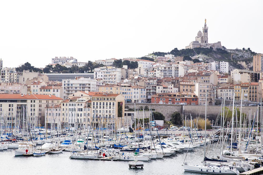 The port and the Notre-Dame de la Garde