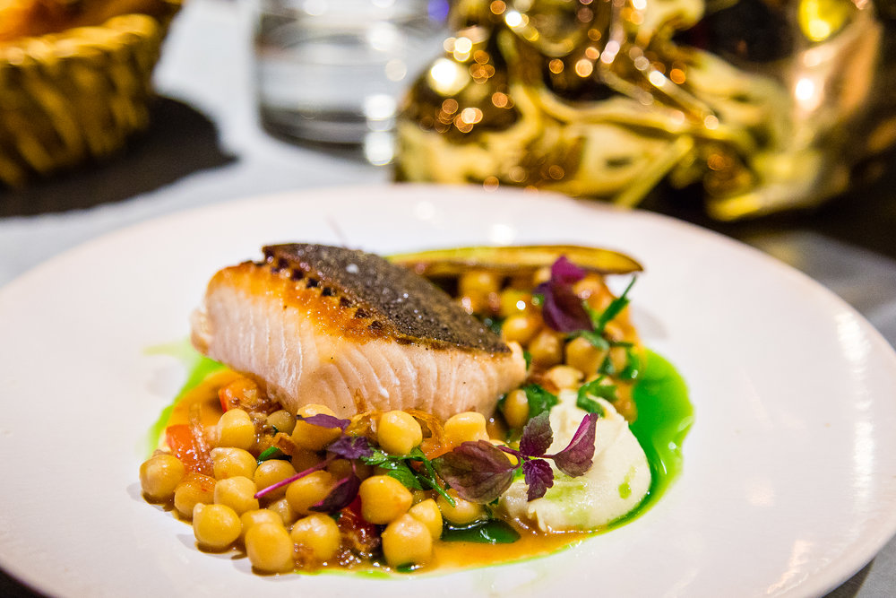 Seared Trout with Chickpeas