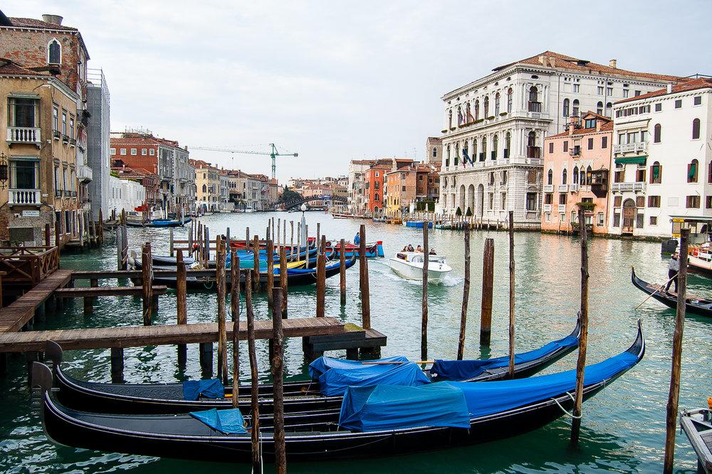Venice Italy Grand Canal Gondolas