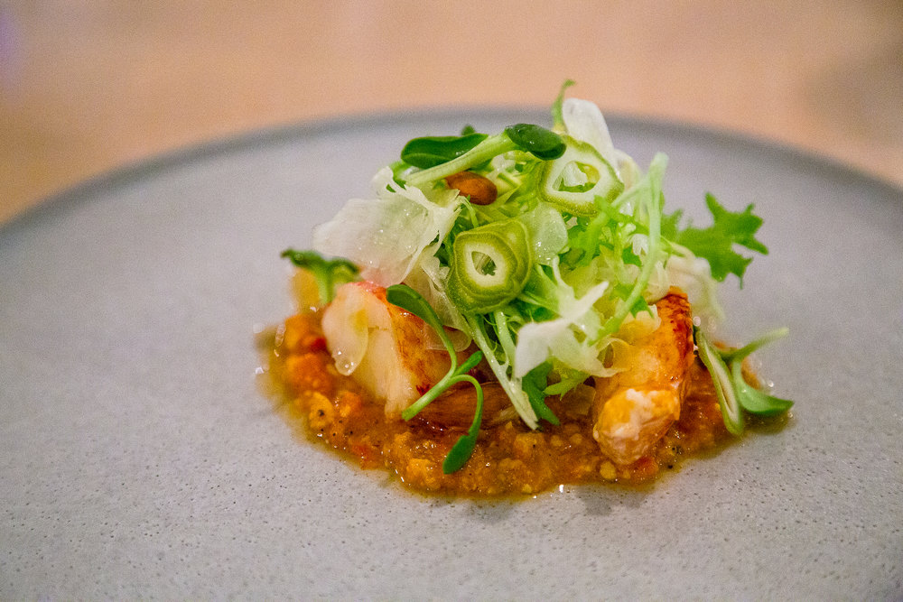 Lobster, Romesco, Frisée