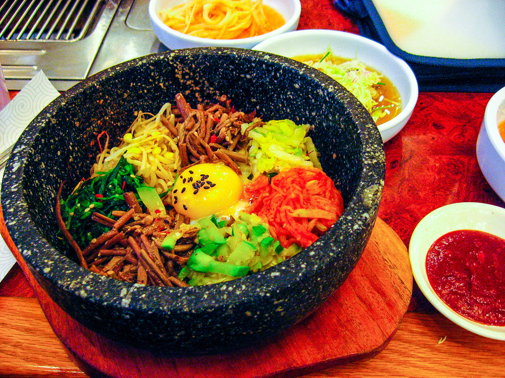 "Bibimbap. Little did I know that I would become quite familiar with this dish by the end of the trip. ""Oh, you are vegetarian? We are making for you something called bi-bim-bap!"" *collective internal groans*"
