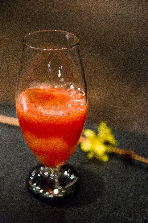 Tomato, rye vodka, shiso