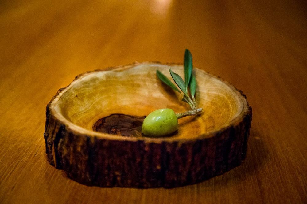 Recreated Olive - Olive Oil Ice Cream, Pistachio, Maldon Salt