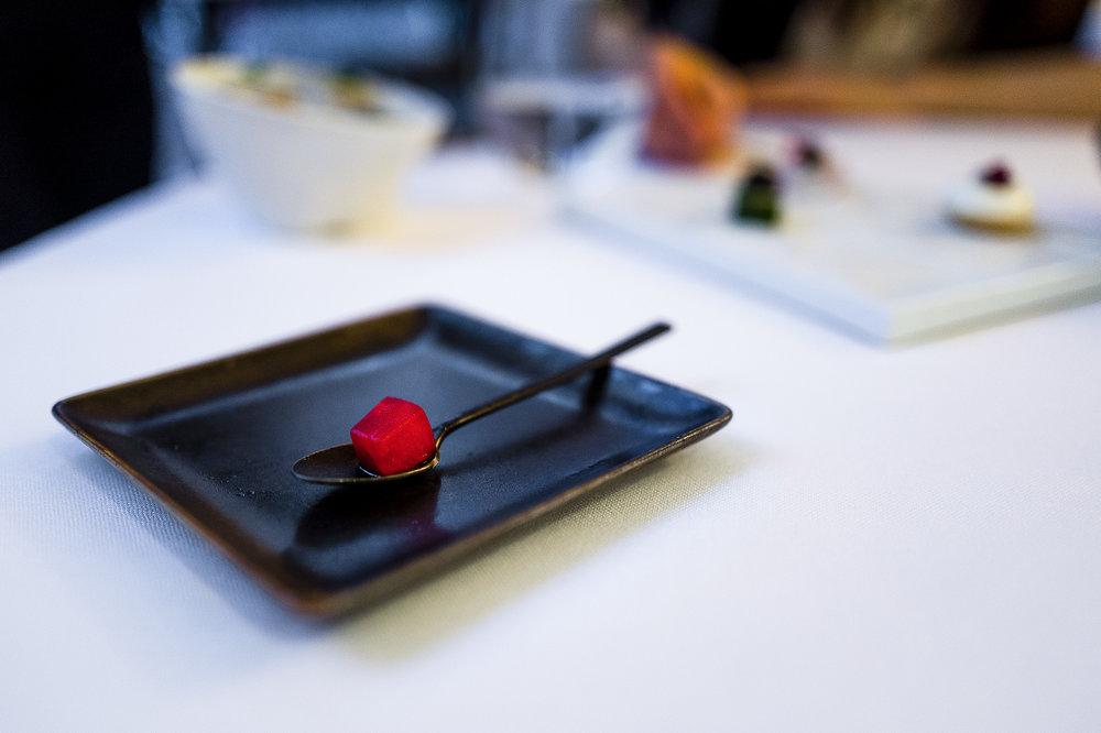 Balsamic, Umeshu, Shiso Sorbet