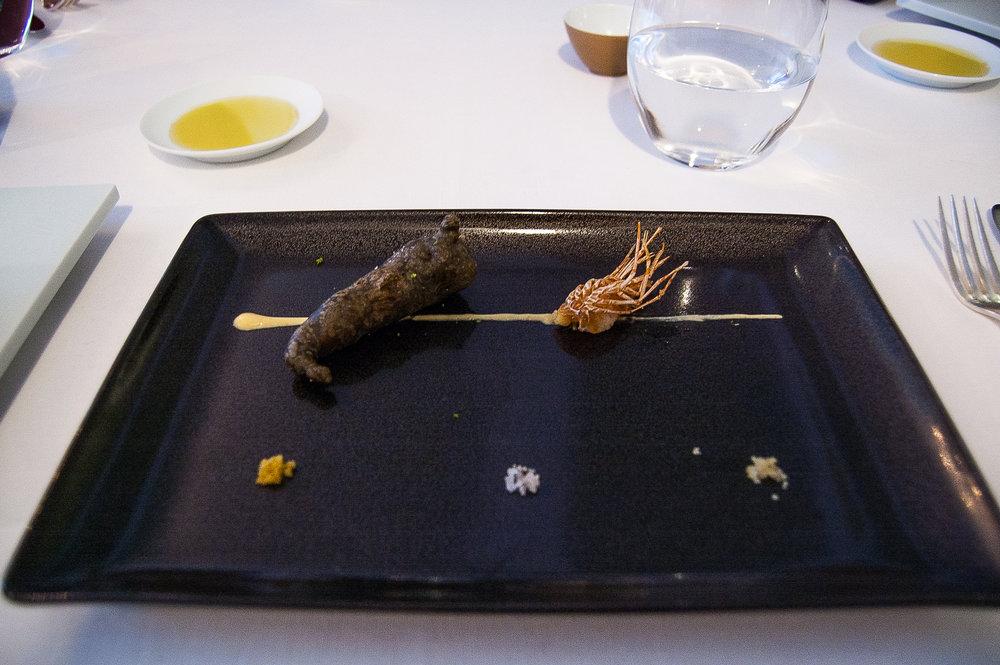 Fried Shrimp, Fried Shrimp Head, Trio of Different Salts