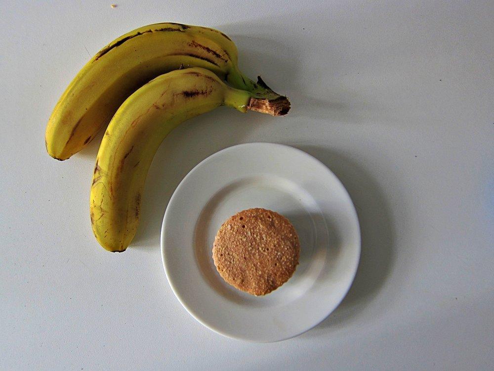 Magdalenas Crudas de Plátano y Coco