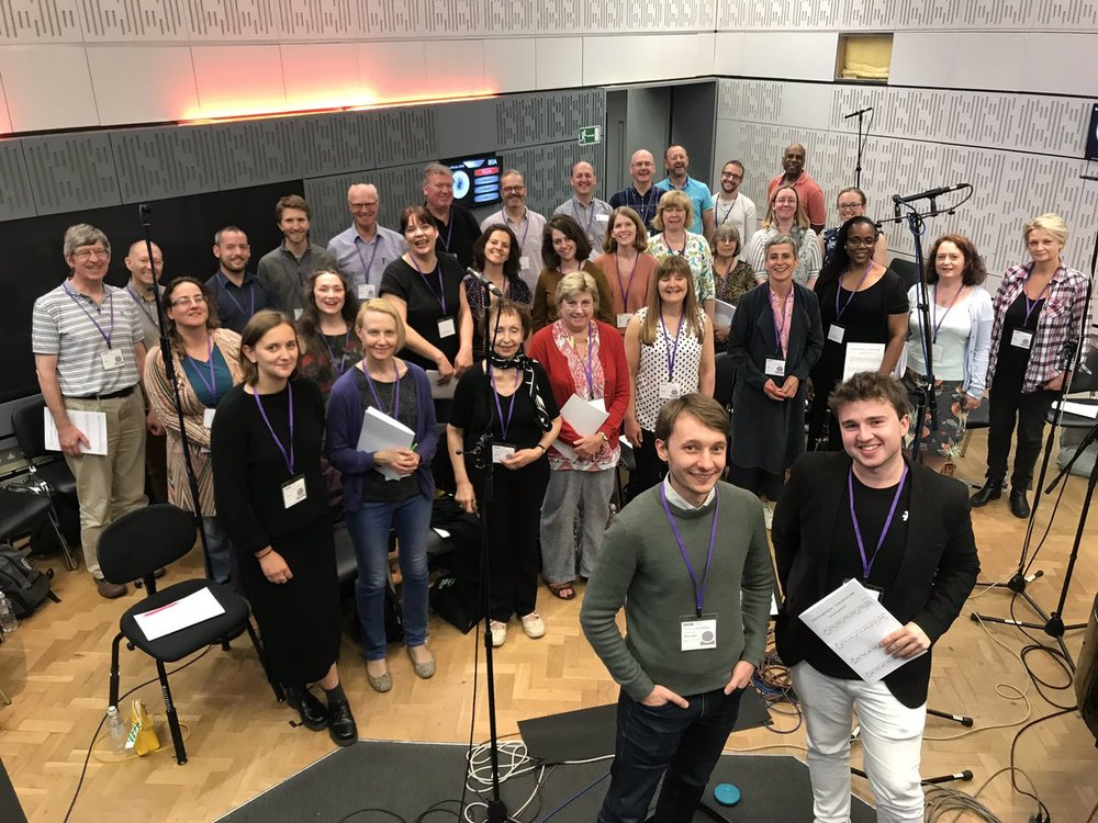 Recording  The NHS Symphony  at BBC New Broadcasting House, London | June 2018