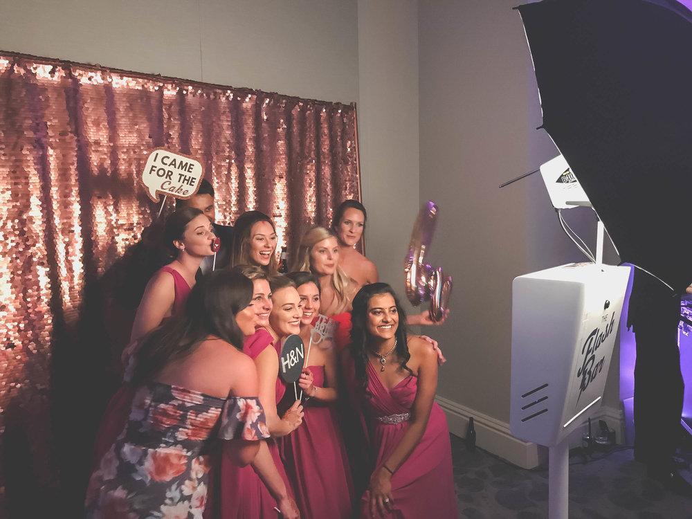 Huntsville wedding photo booth custom props botanical gardens