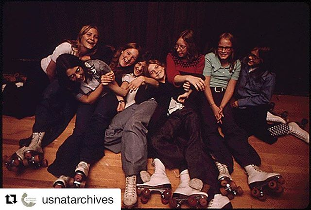"Check out this fun initiative from @usnatarchives: ""We're rolling out our first #ArchivesHashtagParty today! Celebrate friendship and share your favorite #ArchivesSquadGoals photos and documents with us.  These girls know that #ArchivesSquadGoals means rocking some sweet rollerskates and laughing when you fall."" #70s  #rollerrink #rollerderby #vintage #archives #DOCUMERICA #librariesofinstagram #rollerskates #historyrelevance"