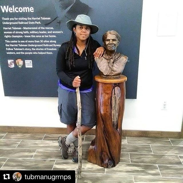 #Repost from @tubmanugrrnps: #Congratulations🎉 to Mashona Council (NewGenPraiser) for completing the #HarrietTubman Underground Railroad Byway today. Mashona walked the 125 mile Tubman Byway, and became the first person to complete this #journey.  #Girltrek #TubmanVC #Tubmancountry  #UndergroundRailroad #Freedom