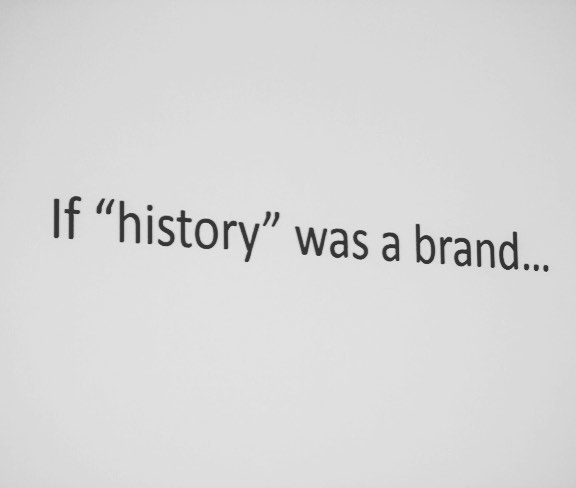 "We talk a lot about what History Relevance means to organizations and to our society. While the conversation starts many different ways, we love this question as a jumping off point! If ""history"" was a brand, what would it look like? #historyrelevance #history (photo courtesy of: @canadashistory and BrittanyGawley"