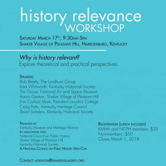 Check out the newest NCPH mini-con on #historyrelevance! More info at link in profile. #publichistory #professionaldevelopment #workshop #NCPH