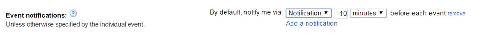 Edit Event Notifications Default in Google Calendar