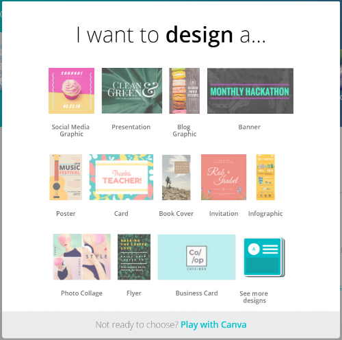 Canva choose template