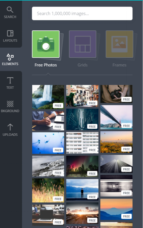 Canva Choosing Images