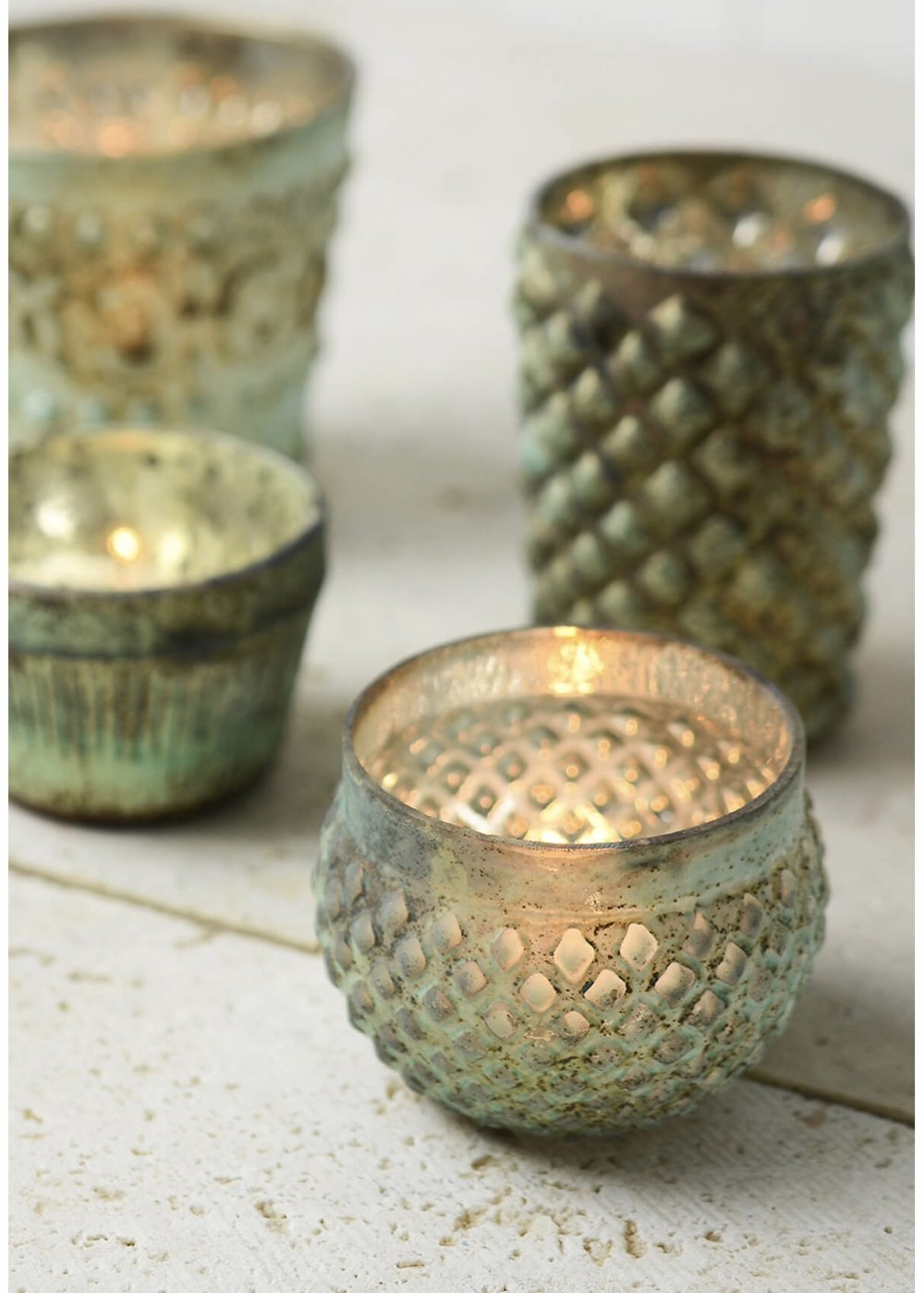 "$2.50/votive & tea light  2"" tall"