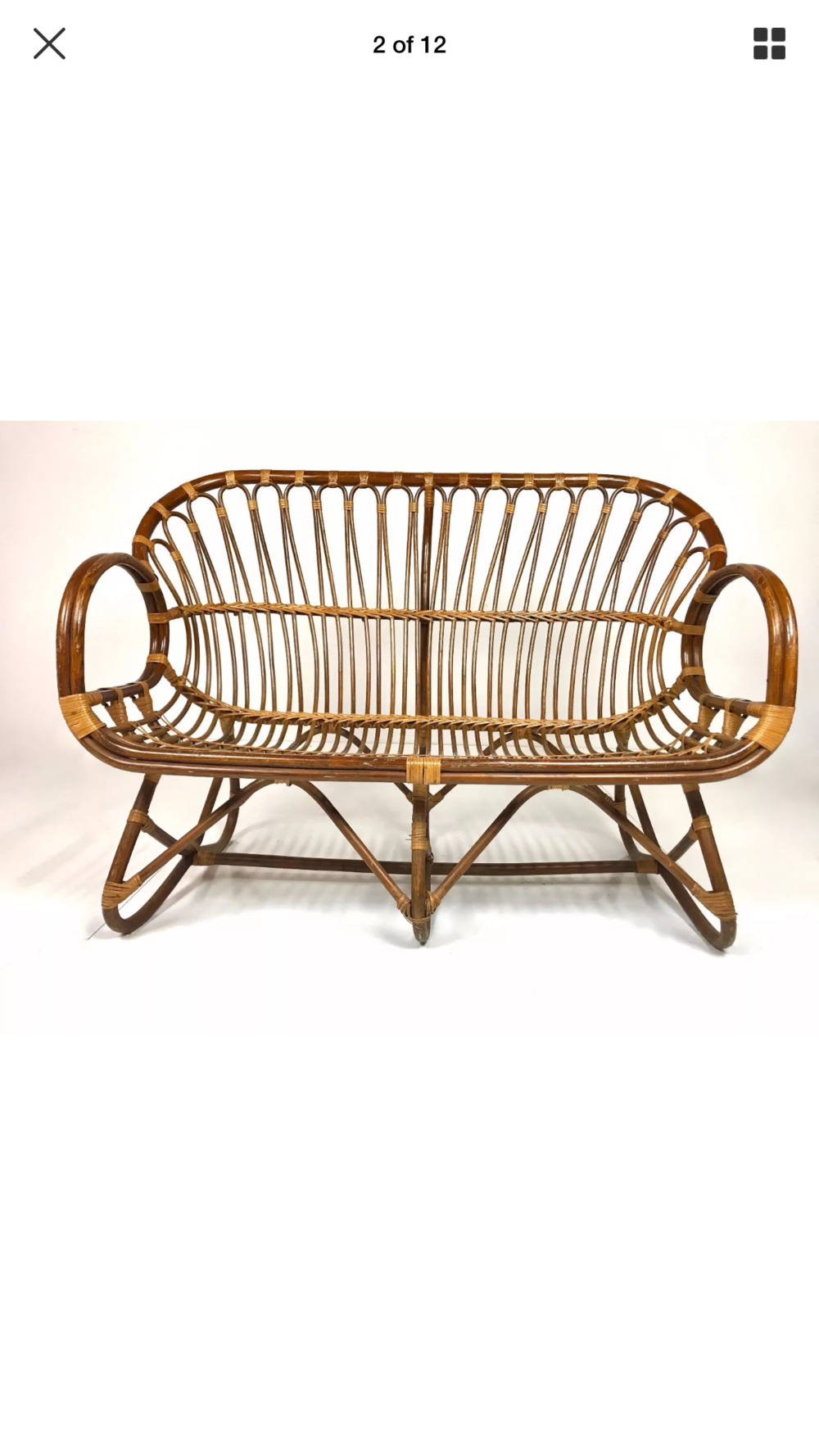 Vintage Franco Albini love seat   1 available   $50