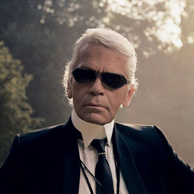 RIP. A Legend. . . . . Photograph of Karl Lagerfeld by Annie Leibovitz for Vogue.