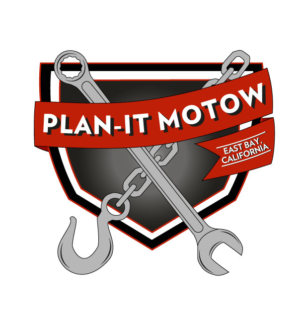 Logo for Bay Area motorcycling towing Plan-it Motow