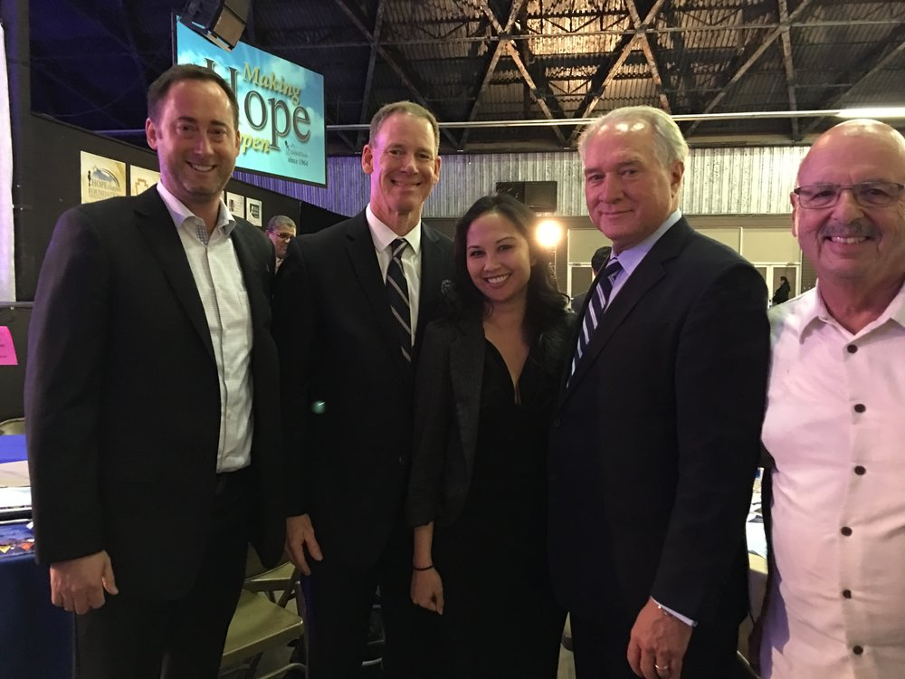 From left to right: Brit Steele, Dr. Dale Marsden, Sherryl Soliven, Jim Clifton, Barry Lowenstein