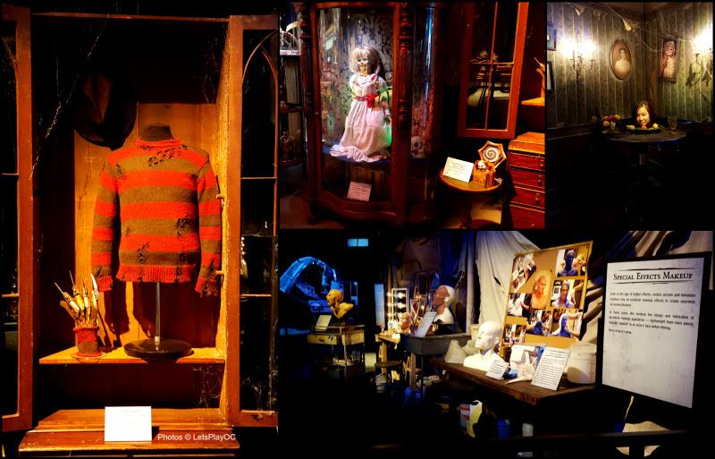 Warner Bros Studio Tour Hollywood's Horror Made Here featuring Freddy Krueger's glove, the doll from Annabelle, the music box from The Conjuring, and others!