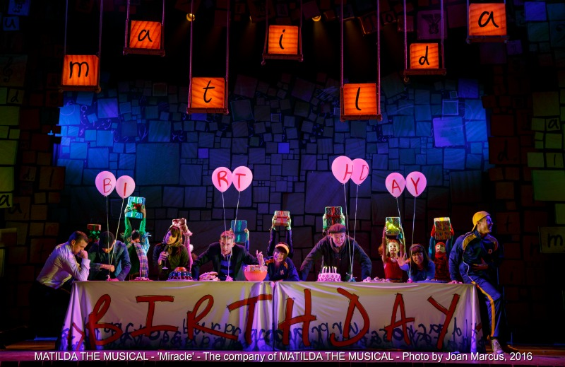 MATILDA THE MUSICAL - 'Miracle' - The company of MATILDA THE MUSICAL - Photo by Joan Marcus, 2016