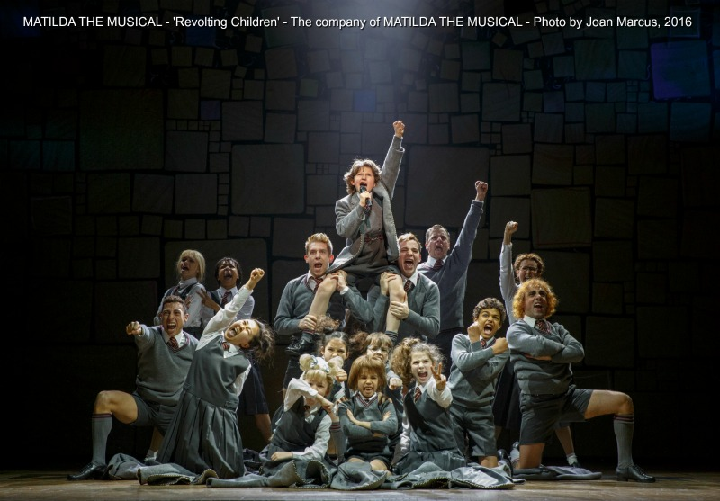 MATILDA THE MUSICAL - 'Revolting Children' - The company of MATILDA THE MUSICAL - Photo by Joan Marcus, 2016