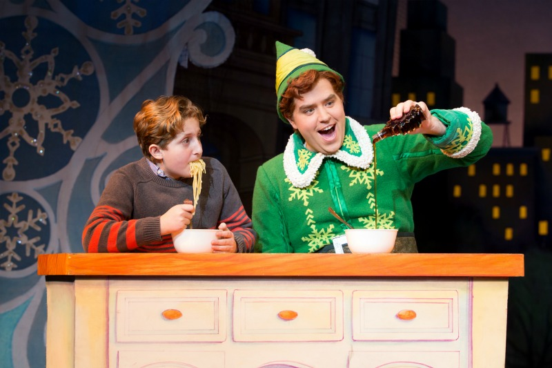 ELF The Musical - Nicholas Canal and Sam Hartley from the 2016 ELF Touring Company - Photo by Jeremy Daniel