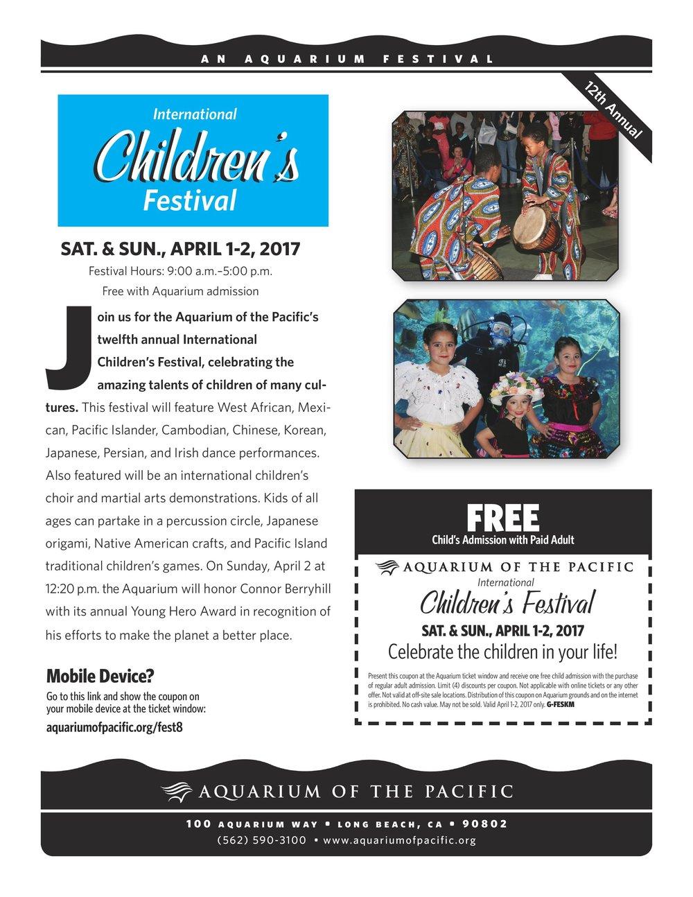International Children 39 S Day Festival At Aquarium Of The