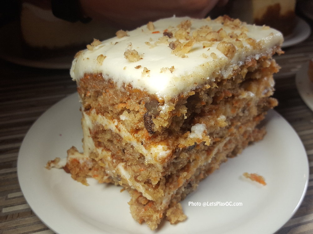 """""""Incredible Carrot Cake"""" at Stonefire Grill!"""