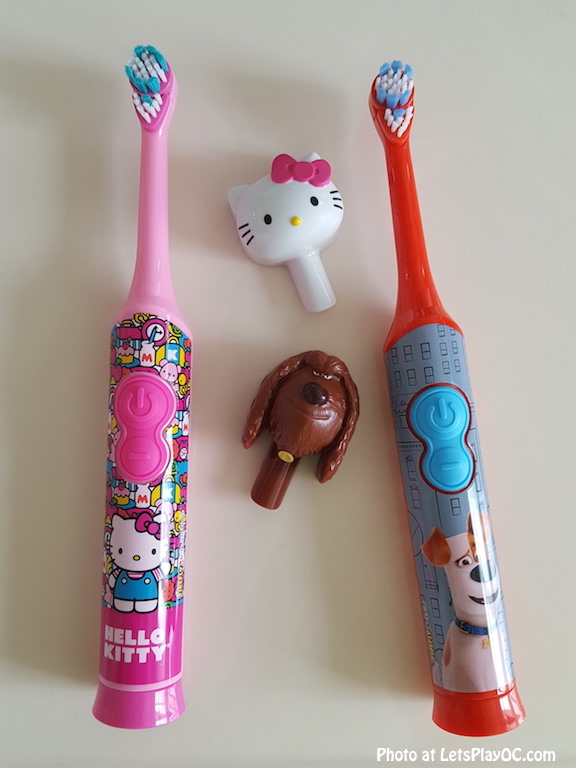 Firefly rotary toothbrushes with covers photo at letsplayoc.jpg