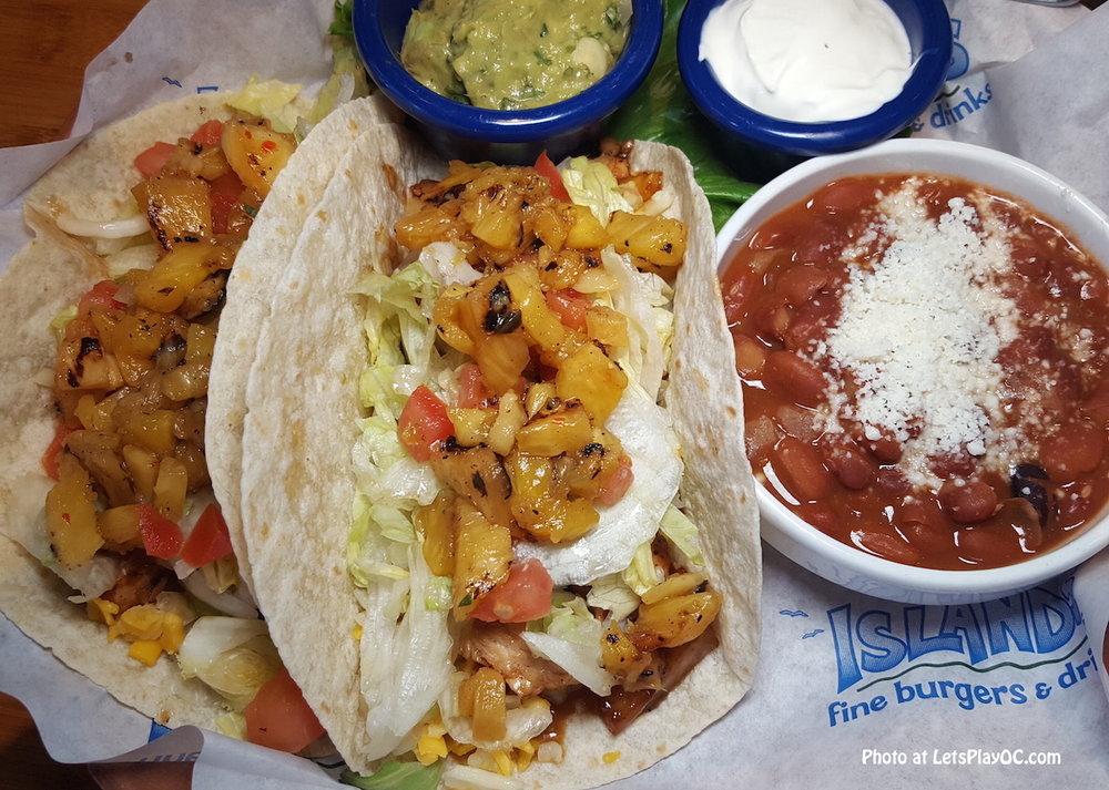 Yaki Tacos at Islands Burgers