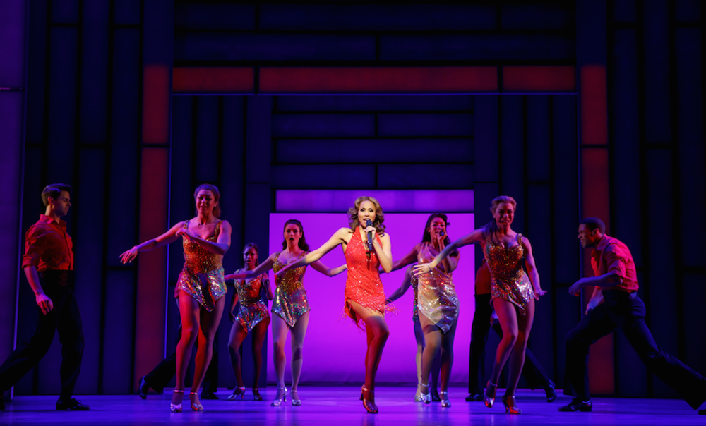 The Bodyguard - Deborah Cox as Rachel Marron and Company in The Bodyguard - Photo by Joan Marcus
