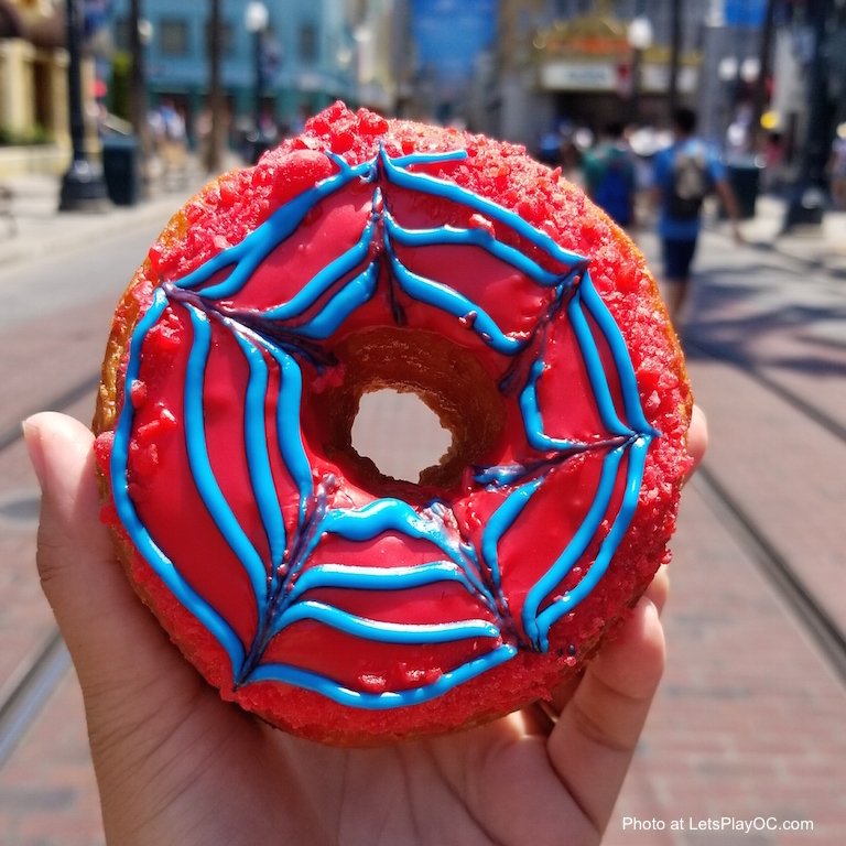 Disney Summer of Heroes Spiderman Bite Donut Photo LetsPlayOC.jpg