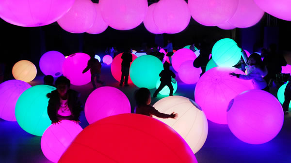 Light Ball Orchestra. Photo Courtesy of Bowers Kidseum.