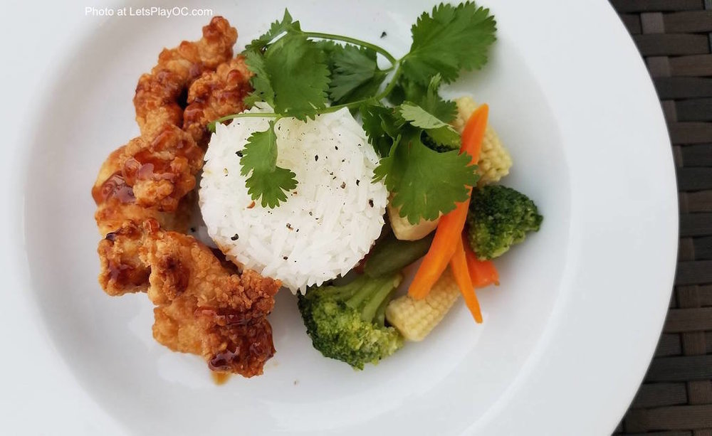 Foster Farms Orange Chicken Dinner with Rice Photo at LetsPlayOC.jpg
