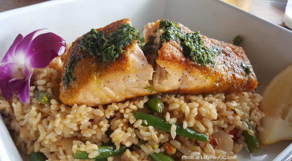 The Albright Seafood Restaurant Santa Monica Pier Salmon Plate Photo at LetsPlayOC.jpg