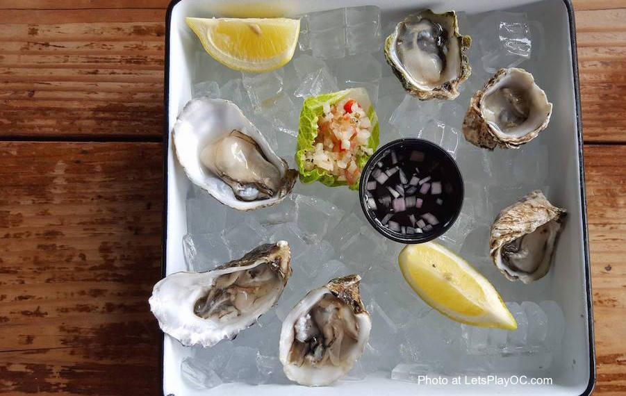 The Albright Seafood Restaurant Santa Monica Pier Live Oysters Photo at LetsPlayOC.jpg