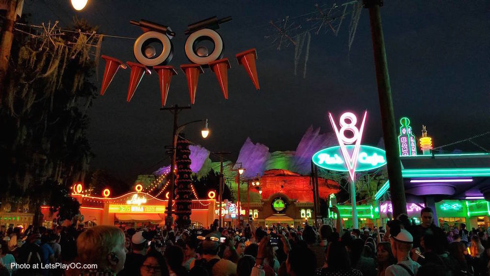 Disney California Adventure Halloween Time Carsland Photo at LetsPlayOC.jpg