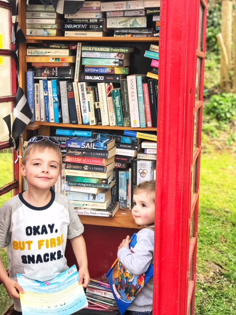 A phone box library in Gorran Haven, Cornwall.