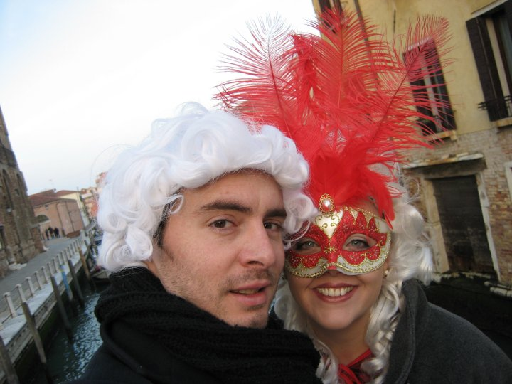 Husband Graziano and I, dressed up for Venice Carnival!