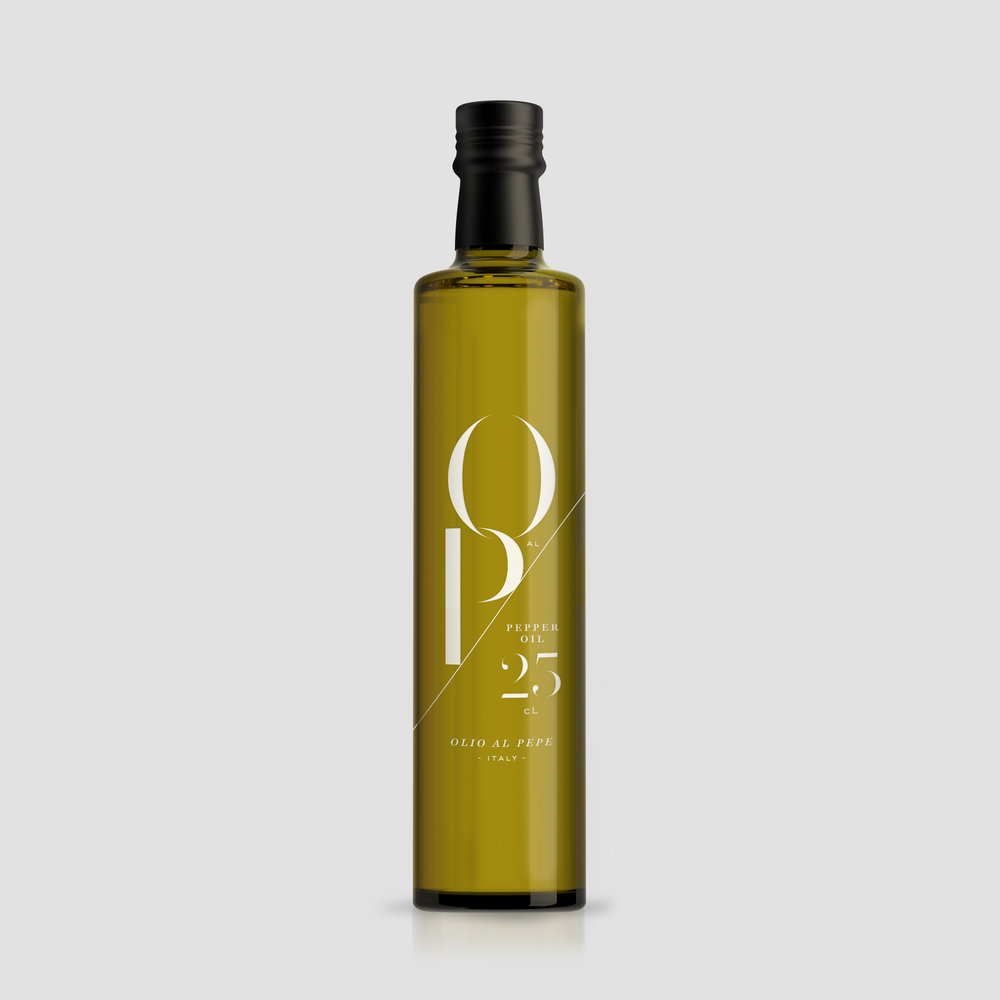 Peggy Wong Studio / pepper oil packaging design for O al P
