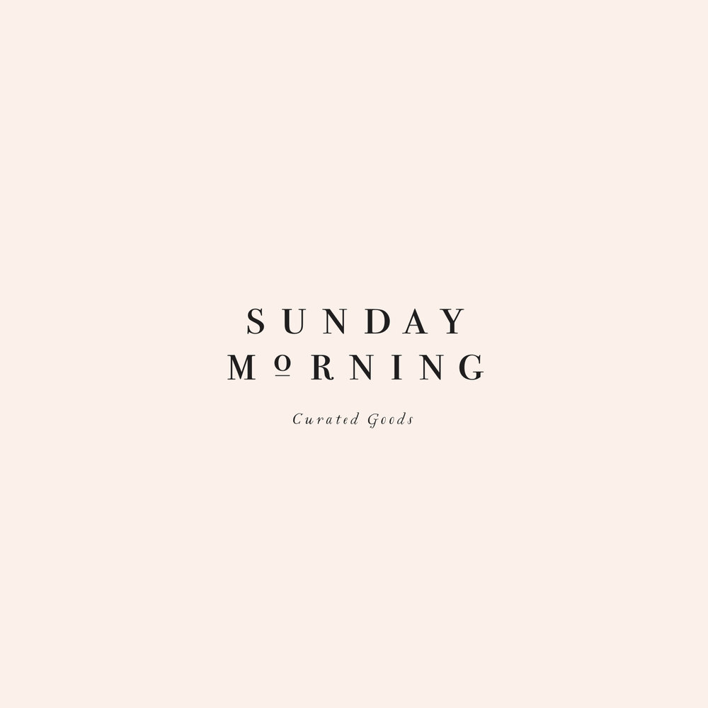 Peggy Wong Studio / logo design for Sunday Morning