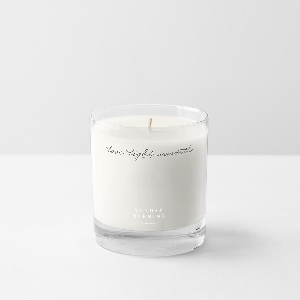 Peggy Wong Studio / candle packaging design for Sunday Morning