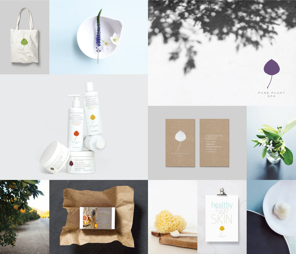 Peggy Wong Studio / branding design and photography for Pure Plant Spa