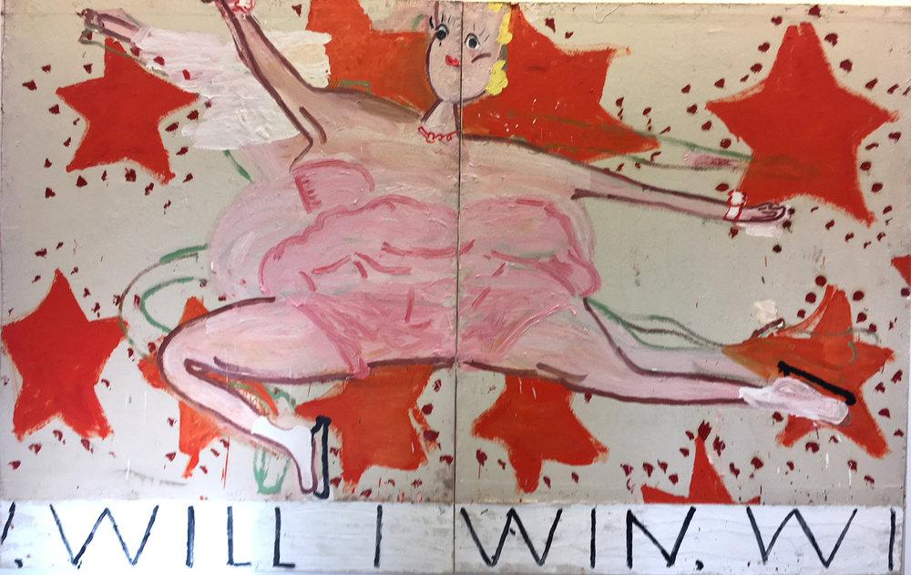 Pink Skater   – Rose Wylie