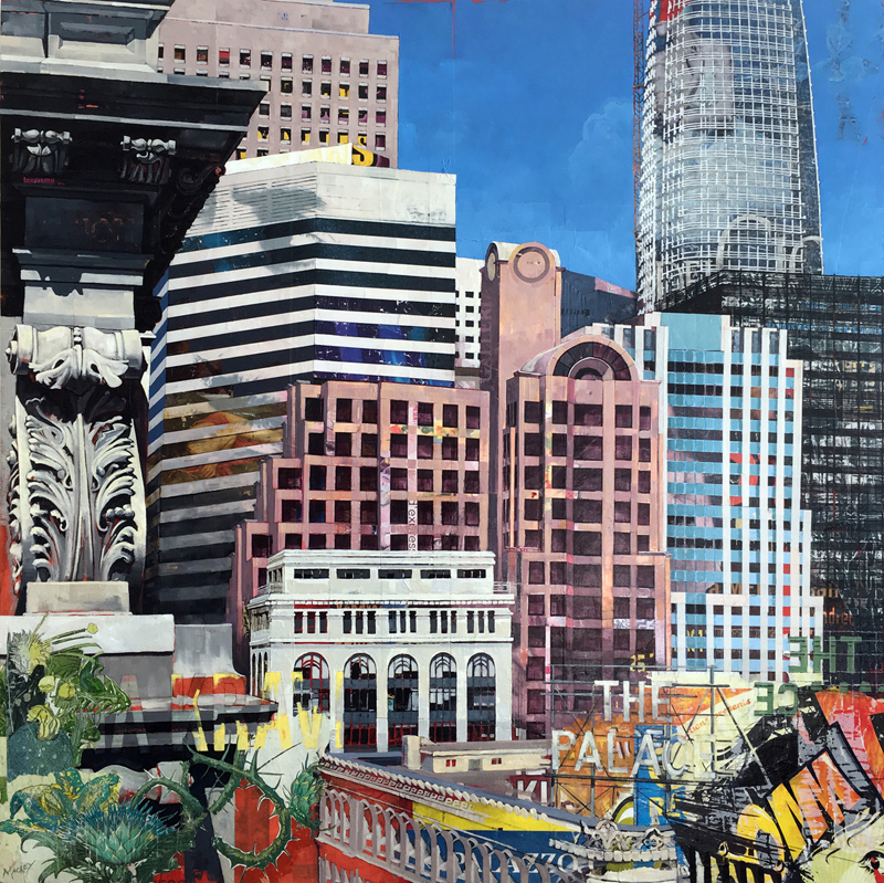 "View From Kearny St  ,  48"" x 48"""