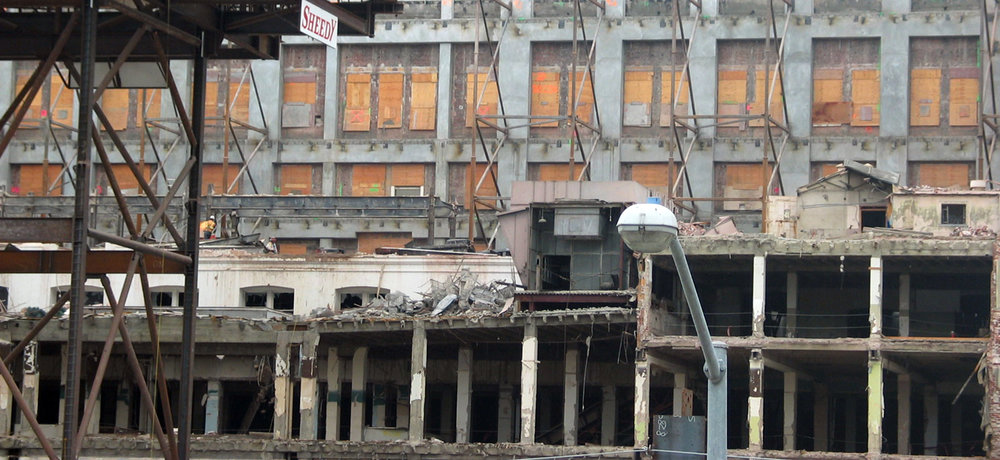 Demolition of Macy's furniture store on Market St. 2002