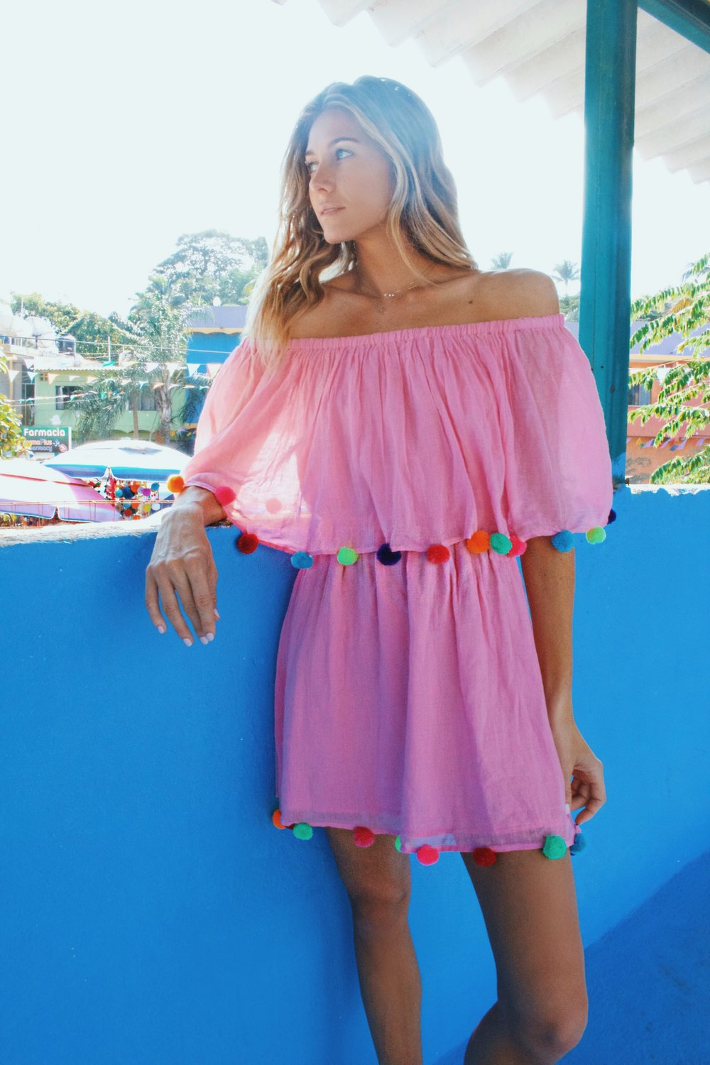 SHOP  PITUSA for this festival dress💕 it also comes in black and white at $88. Her designs are so fun and playful - perfect for vacation with their light weight material, especially in those humid places!